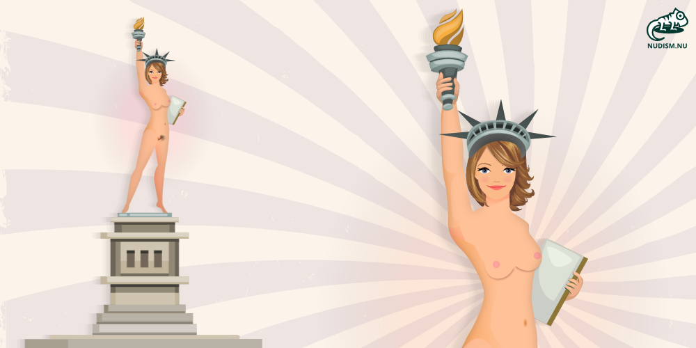 Nude Statue of Liberty